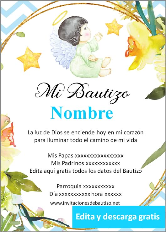invitacion bautizo Niño 6