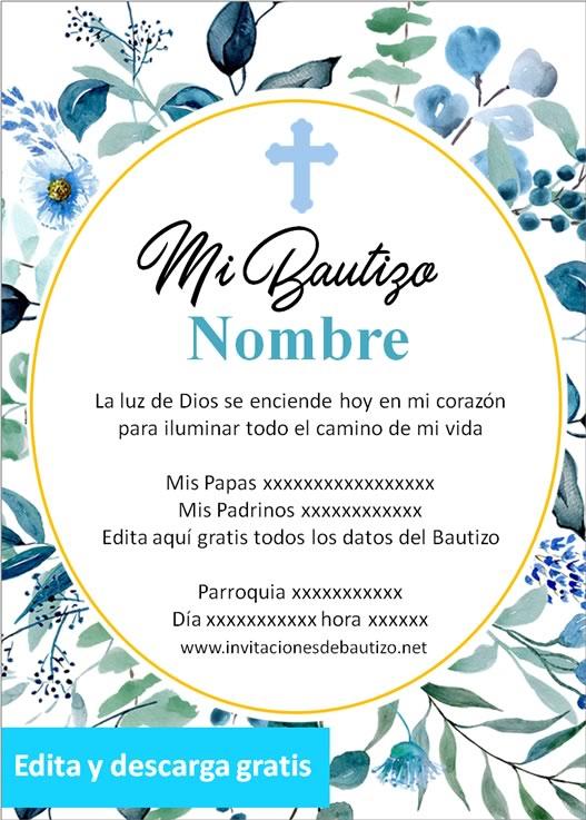 invitacion bautizo Niño 14