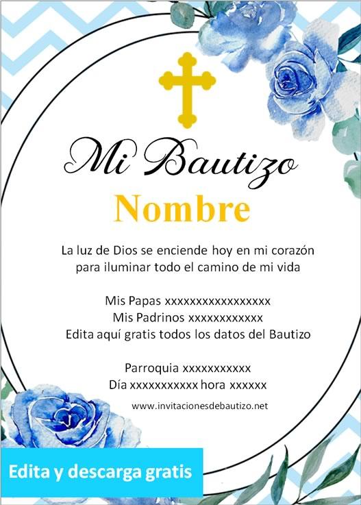 invitacion bautizo Niño 13
