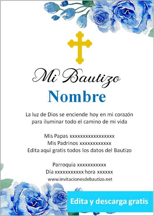 invitacion bautizo Niño 10