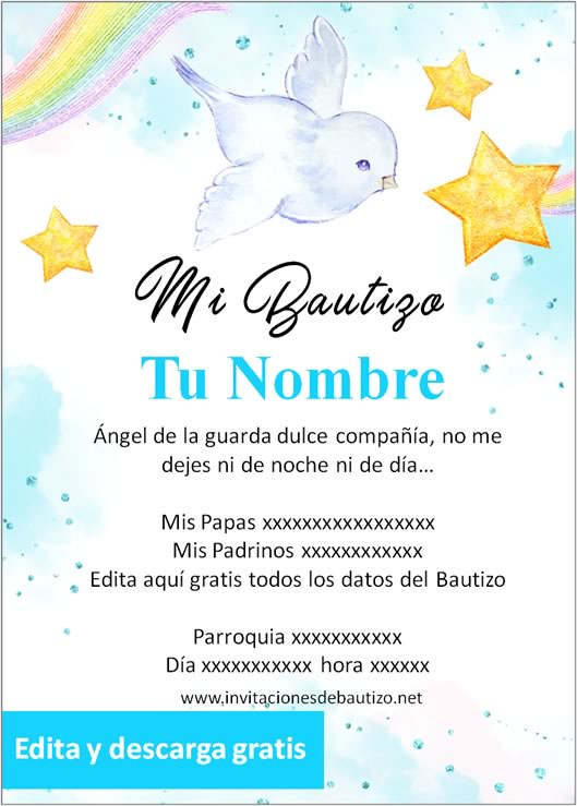 invitacion bautizo Niño 9