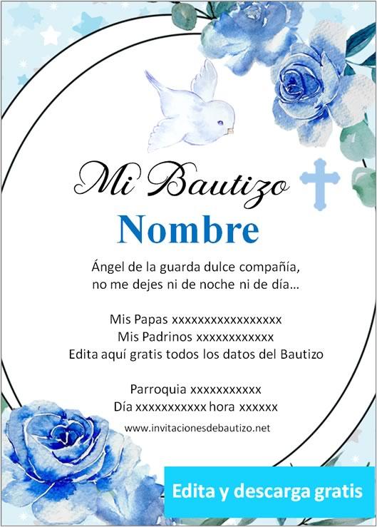 invitacion bautizo Niño 8