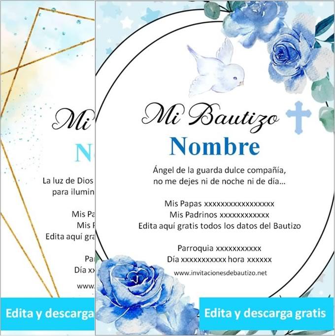 Invitaciones de Bautizo nene